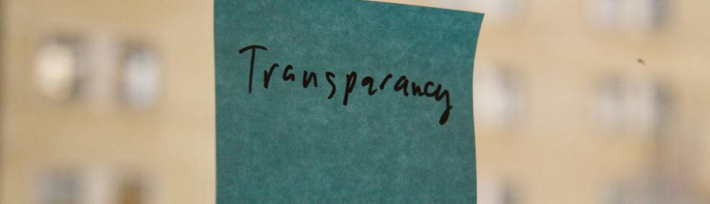 Transparency postit